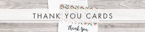 Retro Chic Thank You Cards - painted chevron modern mustard slate blue coral peach wedding wedding stationery suite uk - Hawthorne and Ivory