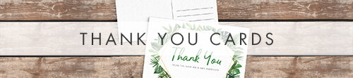 Tropical Palms Thank You Cards - botanical geometric modern plant greenery wedding stationery - Liverpool Palm House Sefton - Hawthorne and Ivory