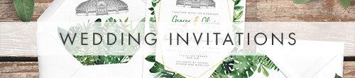 Tropical Palms Wedding Invitations - botanical geometric modern plant greenery wedding stationery - Liverpool Palm House Sefton - Hawthorne and Ivory