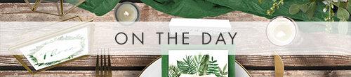 Tropical Palms On The Day - botanical geometric modern plant greenery wedding stationery - Liverpool Palm House Sefton - Hawthorne and Ivory