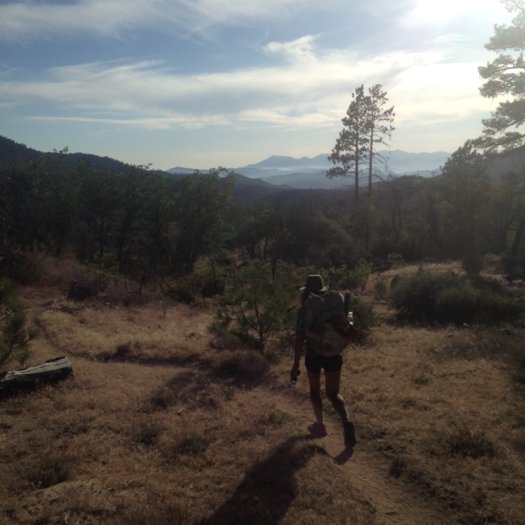 Me hiking out of Big Bear