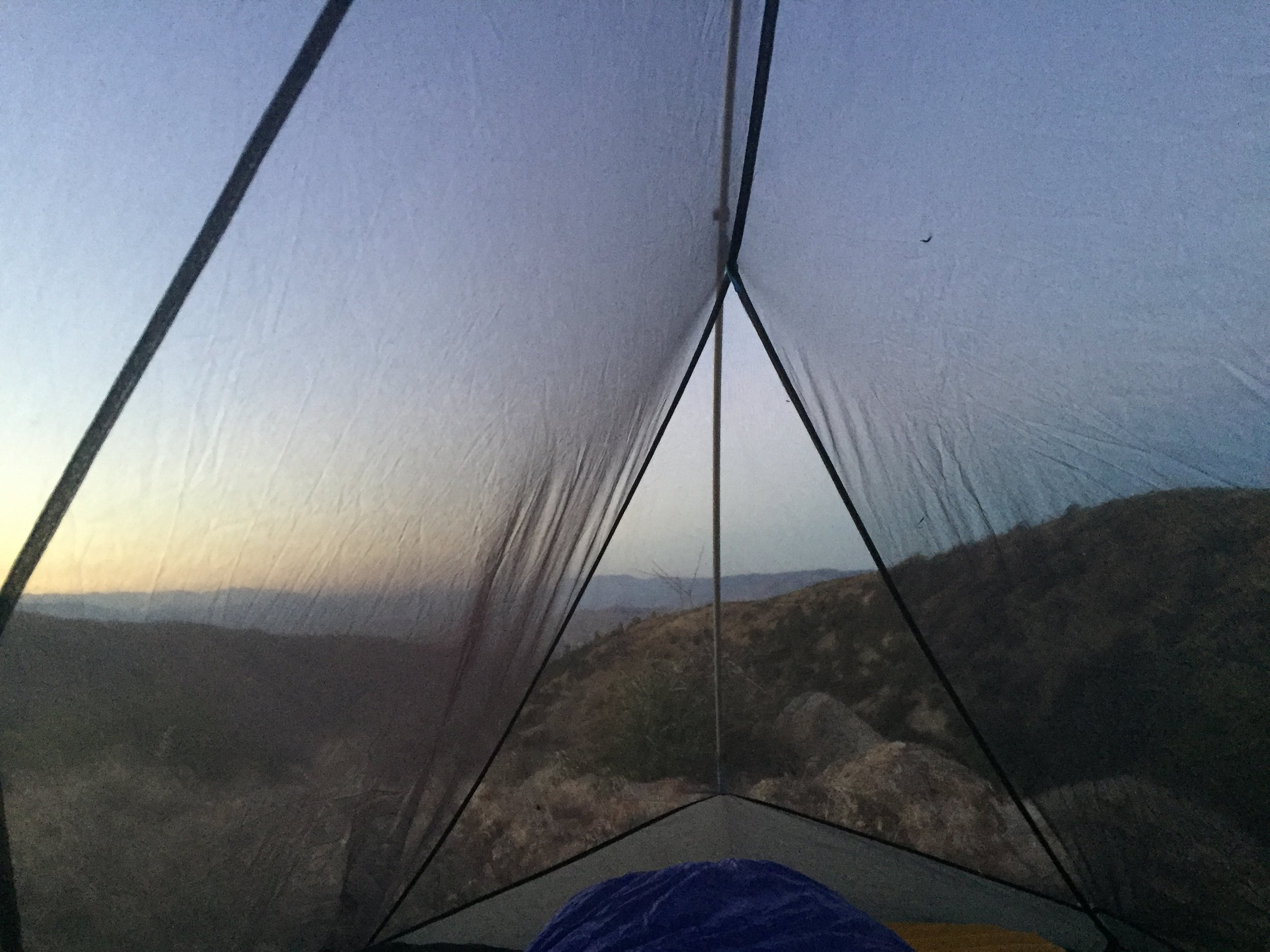 Sunset view from my tent