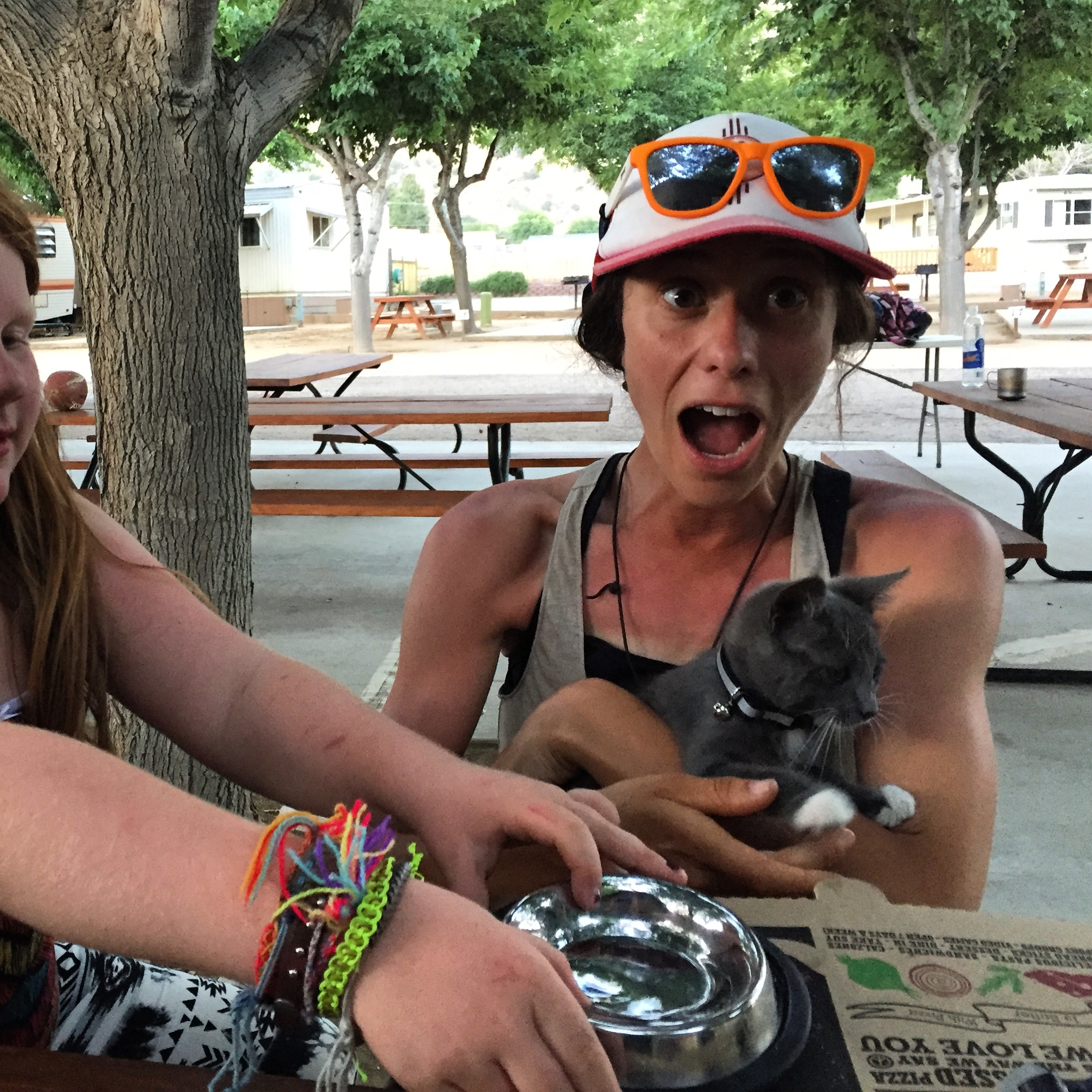 I was very excited to meet Meadow...resident kitten at the campground