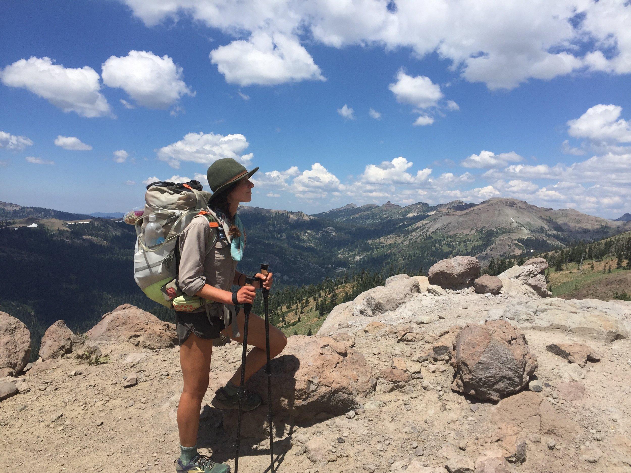 Me looking over the ridge