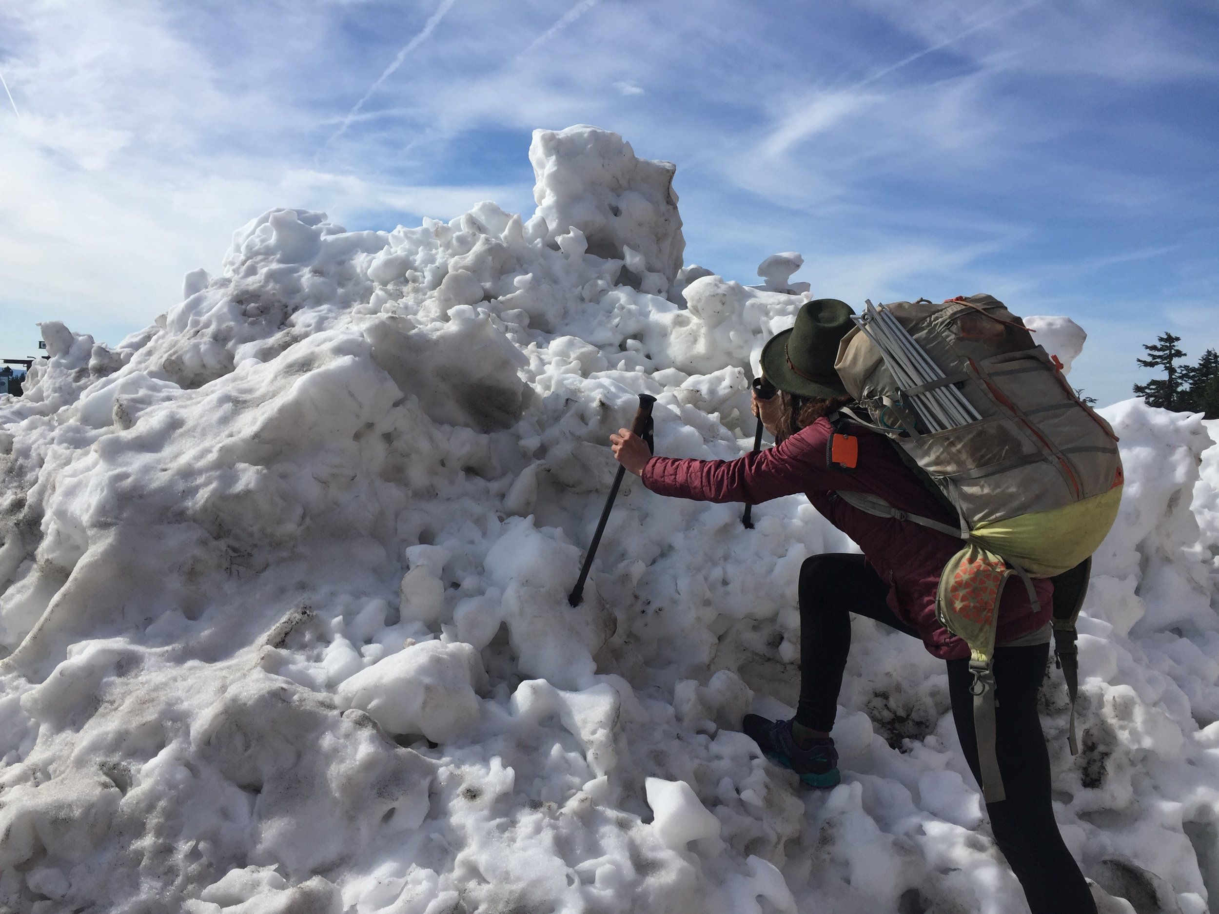 Me playing on a snow pile