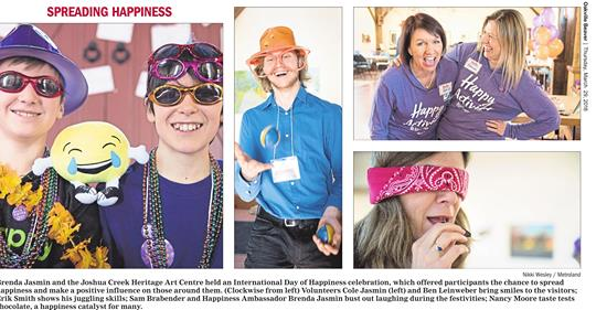 Our International Day of Happiness Celebration was featured in the March 29th issue of the Oakville Beaver.