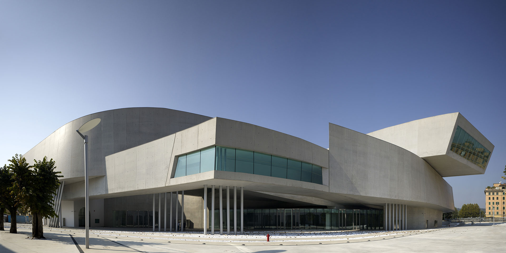 The MAXXI Museum is housed in Zaha Hadid's concrete undulation in the Flaminio neighborhood. (Photo: Getty Images)