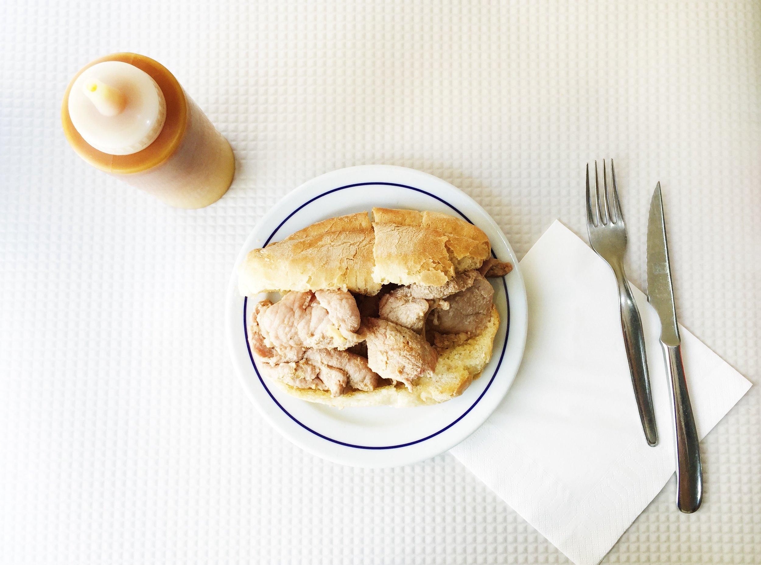 Prego at  Cafe Beira Gare  (Baixa)