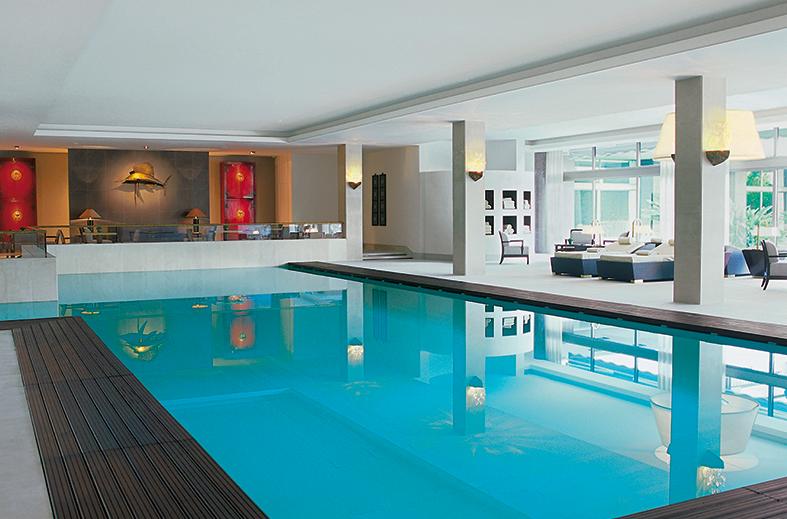 Four Seasons Hotel Ritz Lisbon's Central Lap Pool. Credit: Four Seasons Hotel Ritz Lisbon