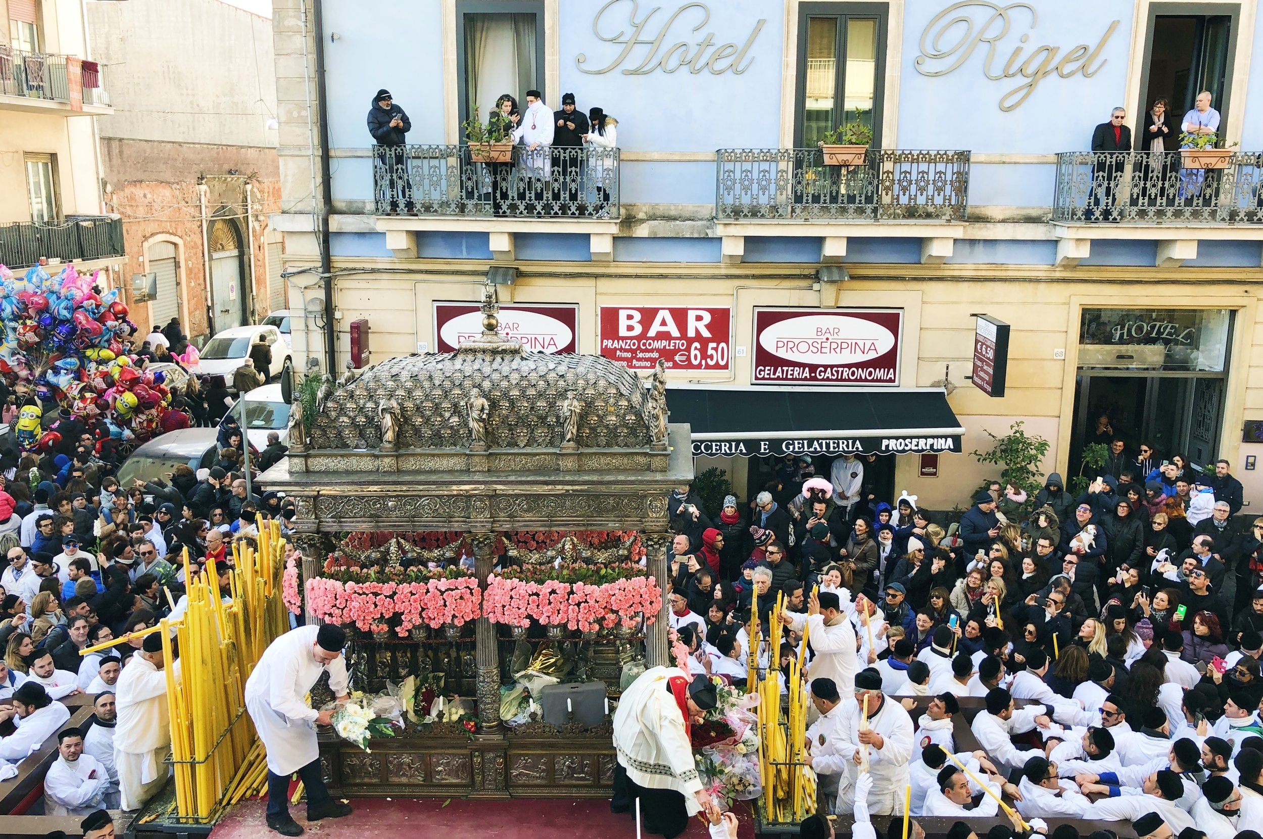 Sant'Agata travels the entire city in a three-day procession.