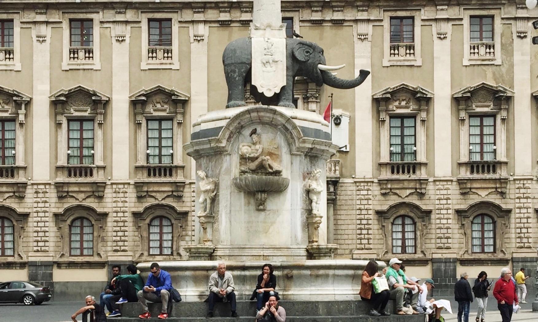 Il Liotru in Piazza del Duomo.