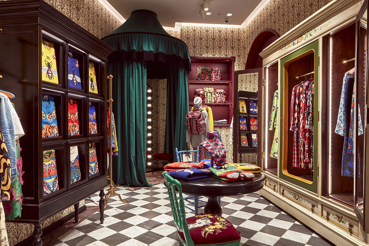 Boutique. Courtesy of Gucci.