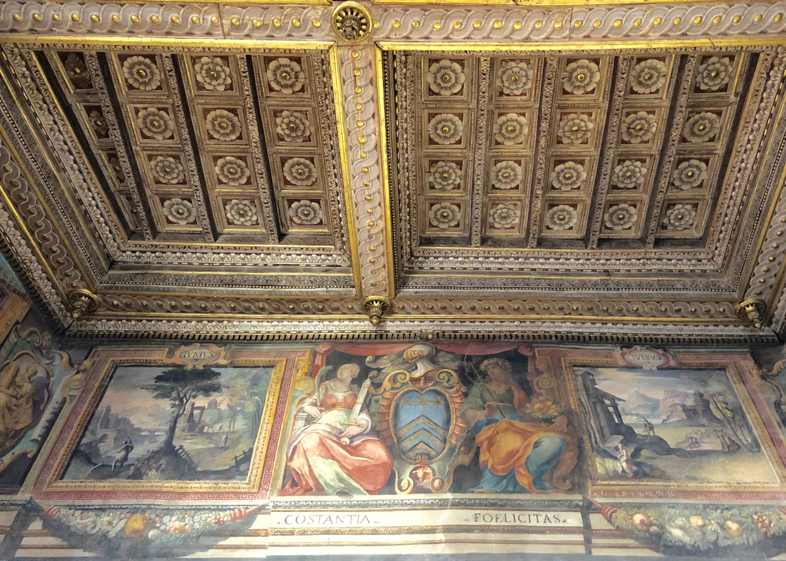Zuccari fresco detail in the main salon (ceilings are 30 ft)