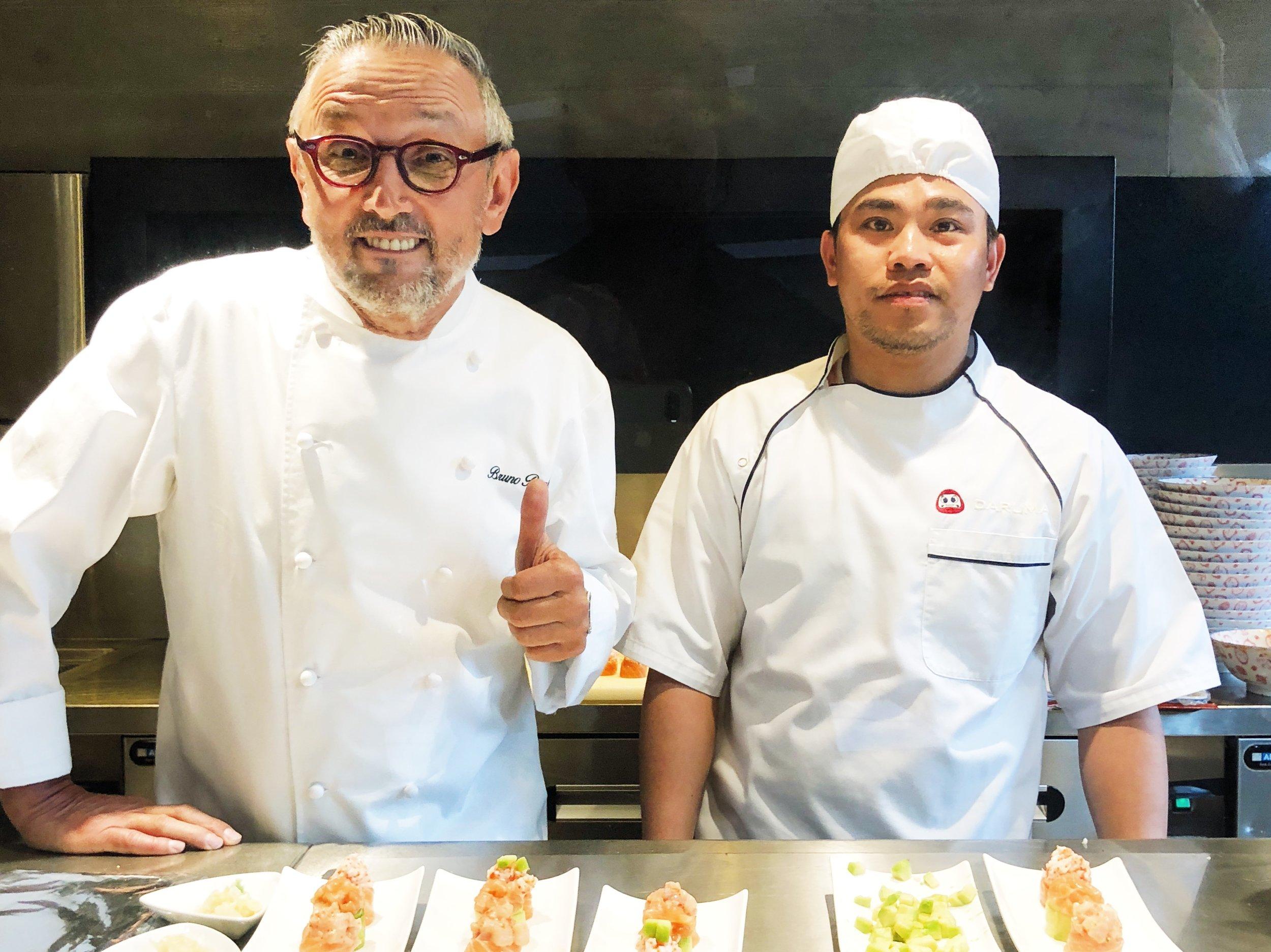 Chef Bruno Barbieri celebrates Daruma Seasons.