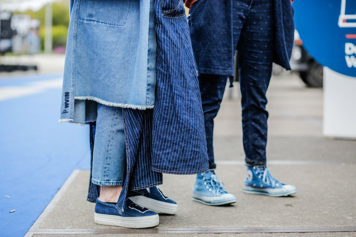 Scandi-style means denim-on-denim. Photo courtesy of Denim Days.