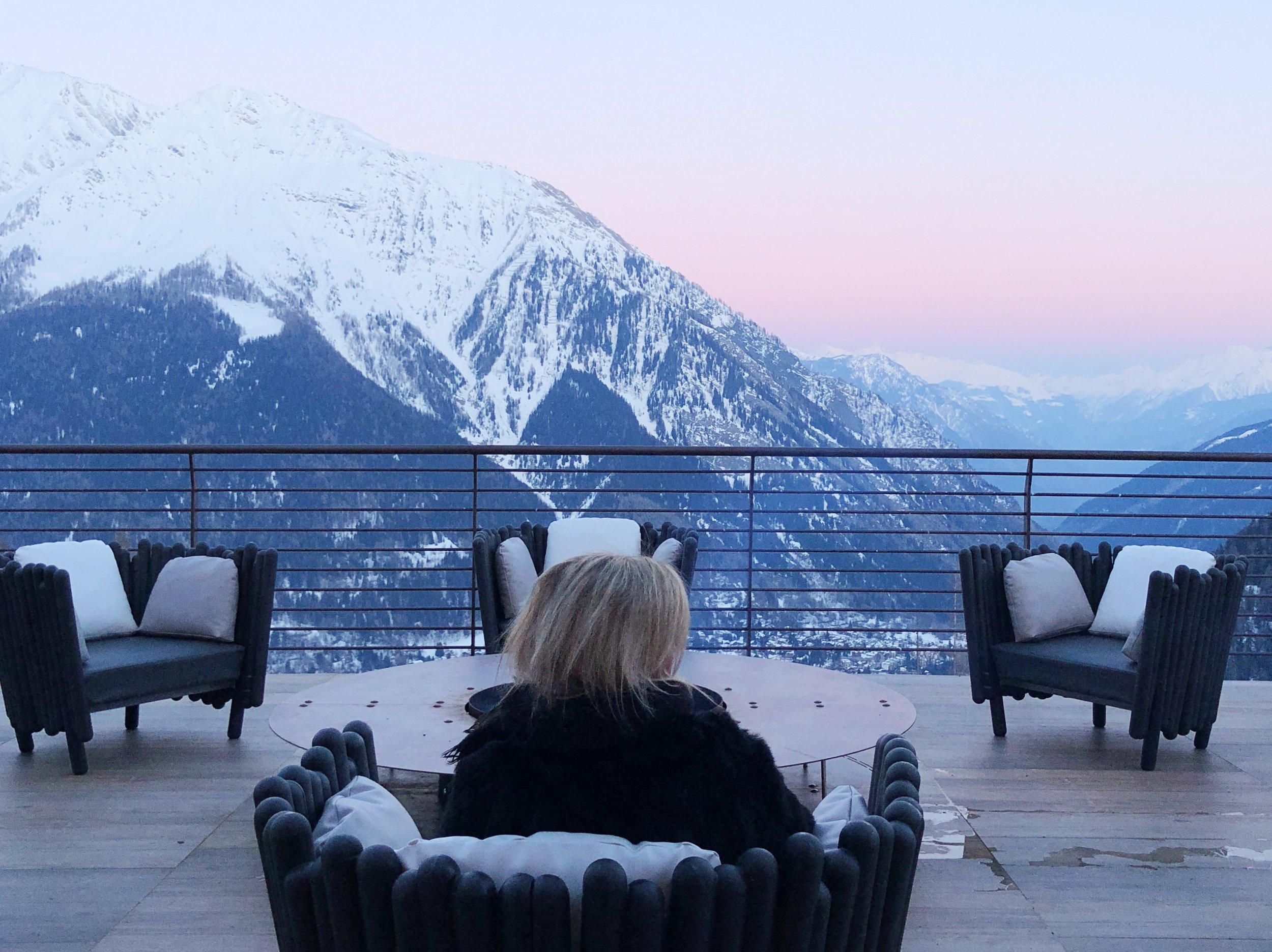 Enjoying Monte Bianco from Le Massif. All photos by Erica Firpo.