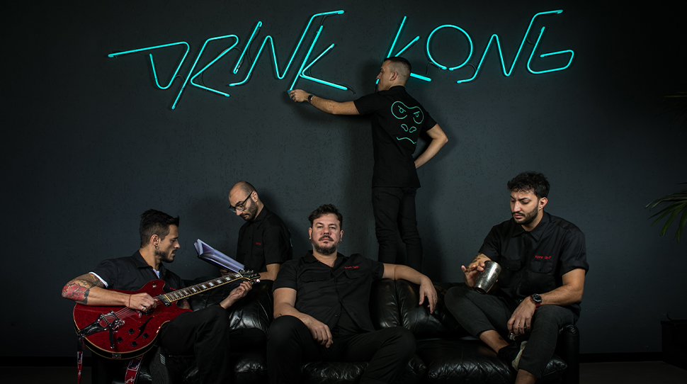 Patrick Pistolesi And The Drink Kong Team.  Credit: Alberto Blasetti
