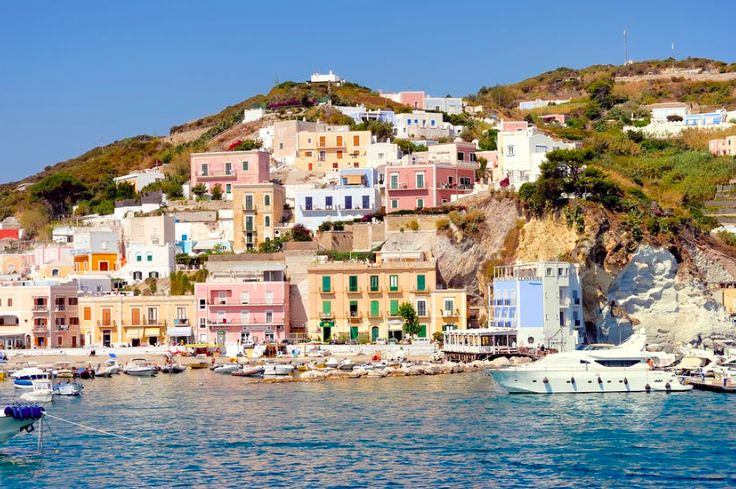 Ponza maintains a low profile but is a quick day trip from Rome.  Photo by Claudio Zaccherini/Shutterstock
