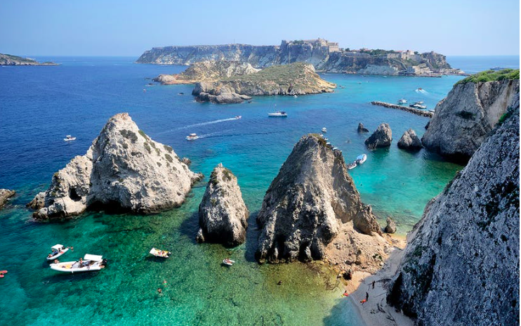 The five Tremiti Islands in the Adriatic are part of a protected national park.  Photo by Paolo Barelli/Shutterstock