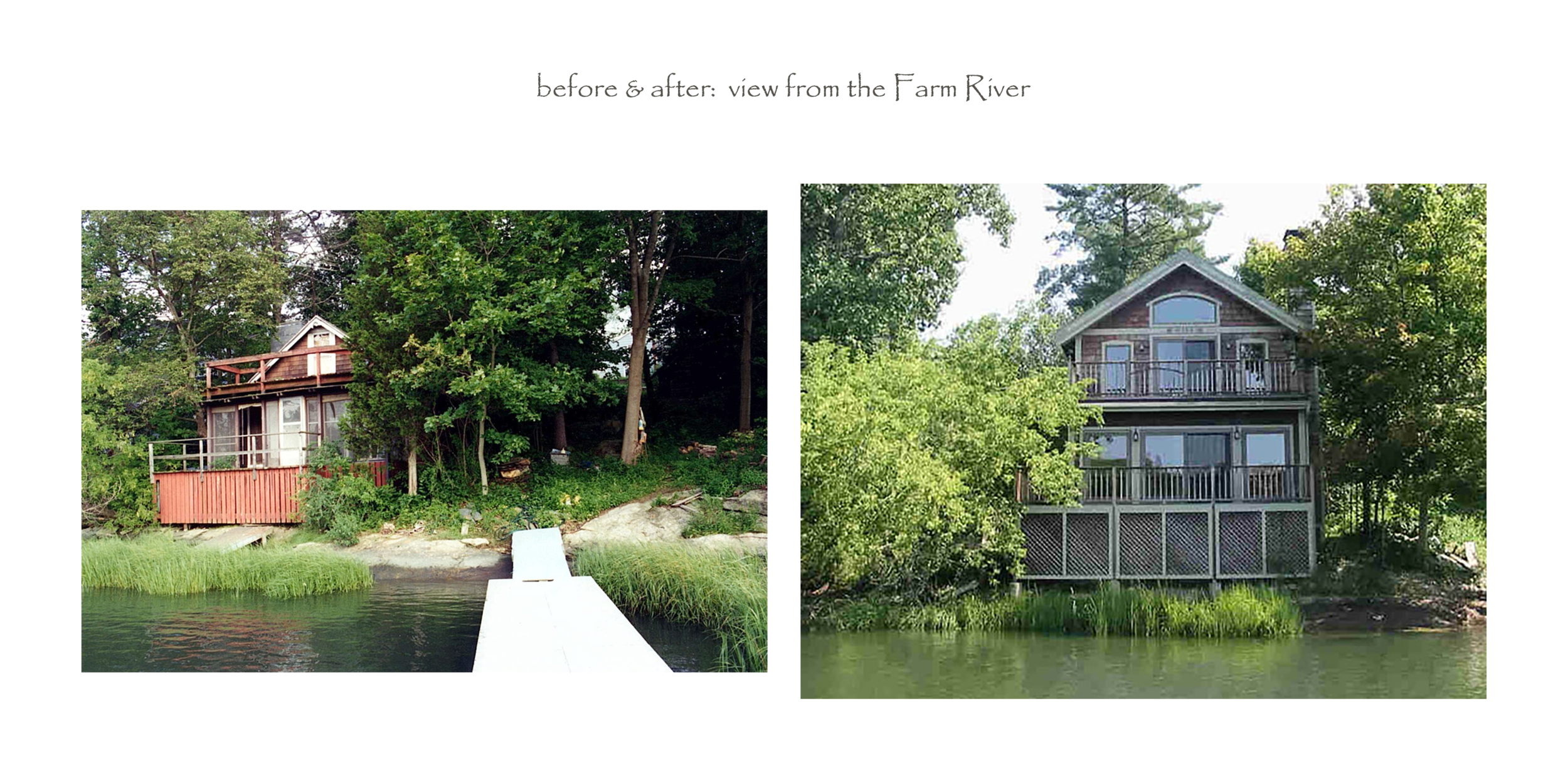before & after (view from river)