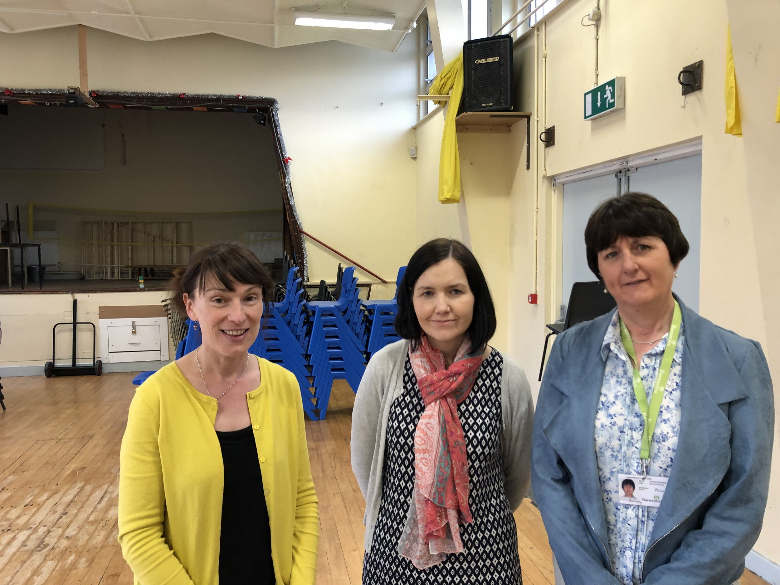 The staff from Barnardos who run this fantastic programme: Michelle King, Suzanne Connolly and Therese O'Doherty.