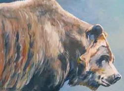 """Bear #4"" acrylic 12x16 by Paul Lewing"