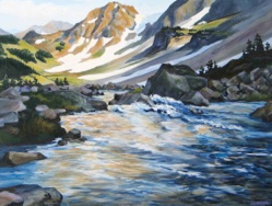 """""""Headwaters"""" acrylic 18x24 by Paul Lewing"""