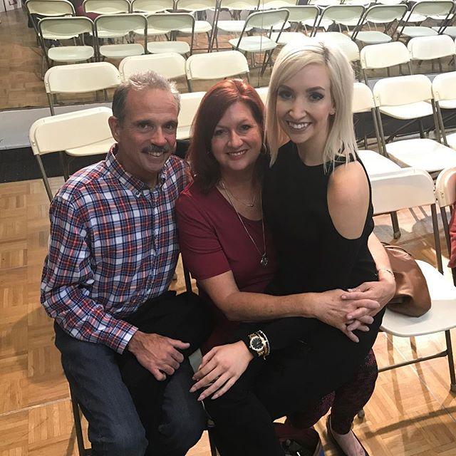 Ms Joy & her Mommy & Daddy!! 💕 Best Dance parents ever!! #sdfdazzle #sdfholidayshow