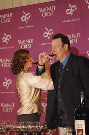 Marcia Gay Harden and Dan Aykroyd   Picking the right Walnut Creek Merlot of 50 others, they won 1 million dollars for the dream.