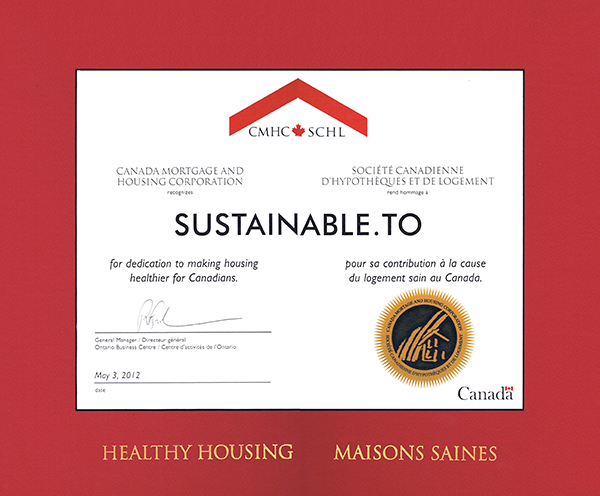 CMHC Healthy Housing Award