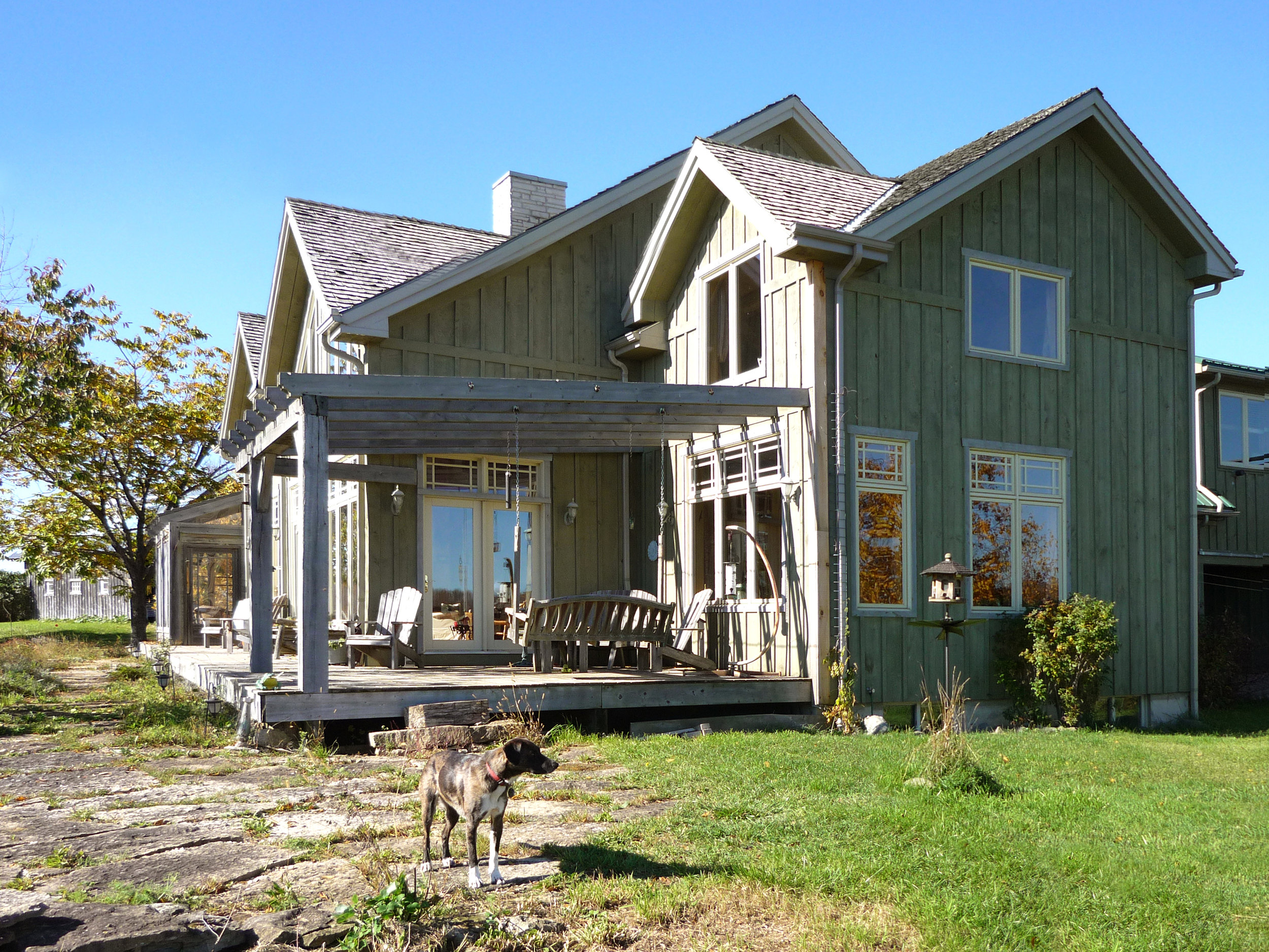 Frog's Hollow  Reclaimed Barn to Off-grid, Passive Solar Residence