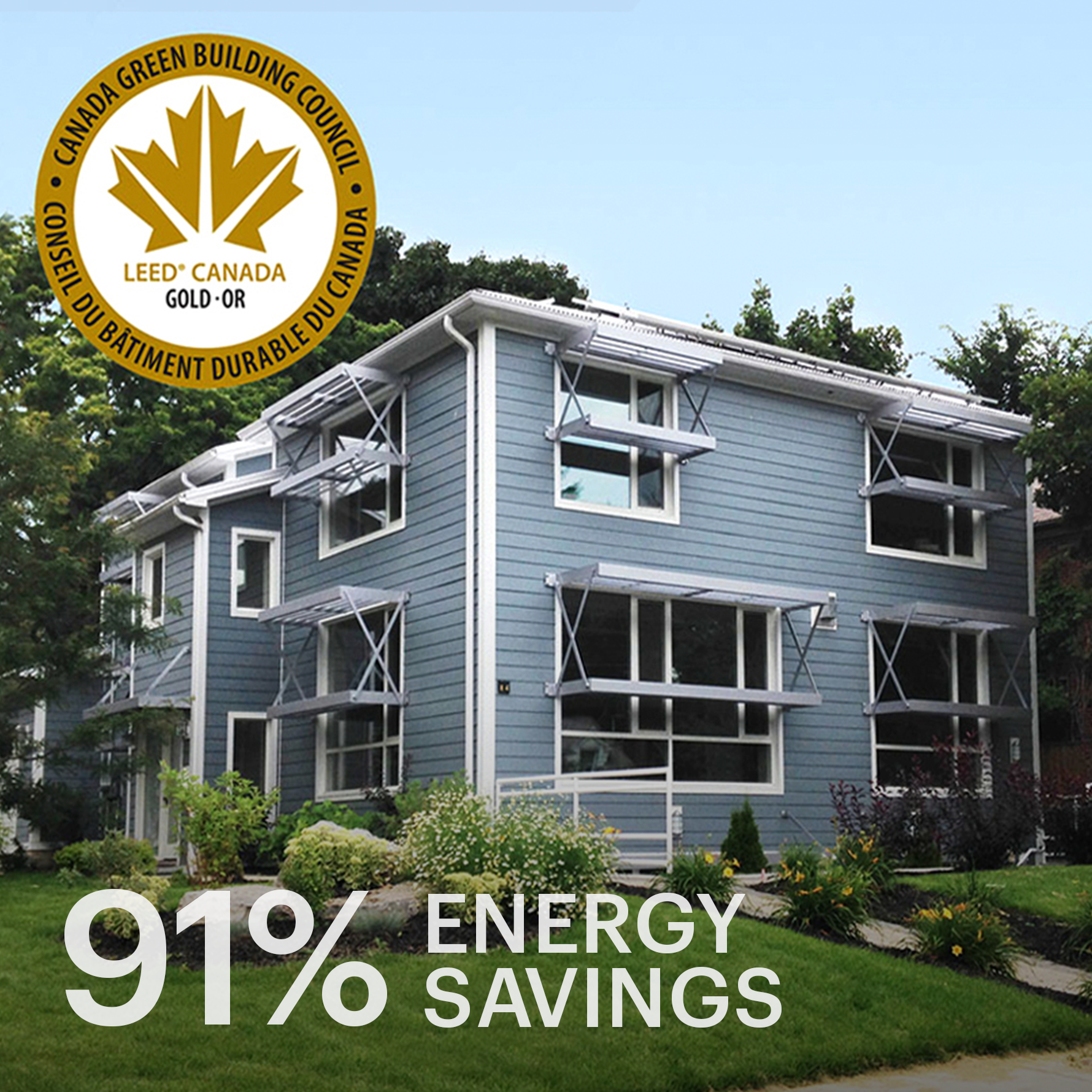 Willowdale Passive Solar House  LEED Gold Certification, CMHC Healthy Housing Award