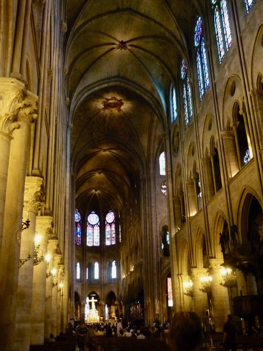 Interior of Notre Dame a few years ago/ Lloyd Alter/   CC BY 2.0