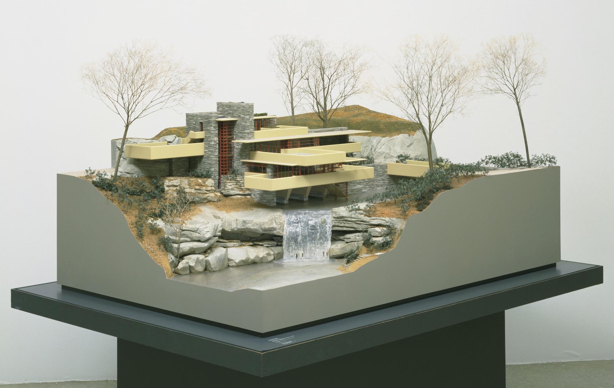 Model of Frank Lloyd Wright's Fallingwater