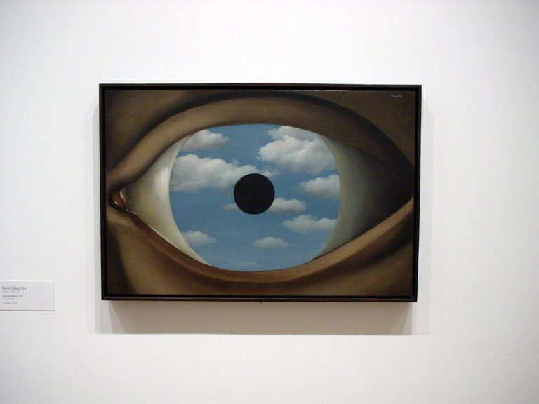 The False Mirror , René Magritte, 1928.   Image Source