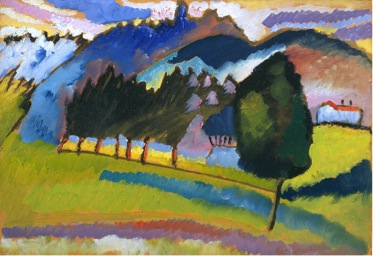 Wassily Kandinsky, Landscape with Rolling Hills , 1910. Image Source .