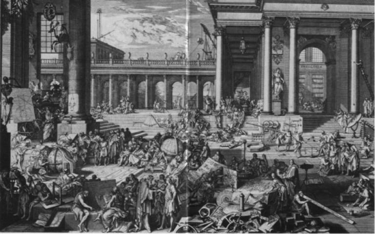 The French Academy of Sciences, 1698, engraving.  Image Source