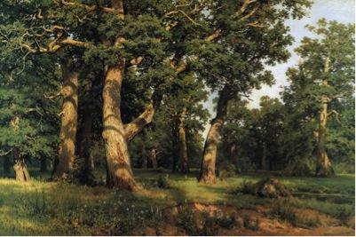Ivan Shishkin, The Oak Grove , 1887. Image Source