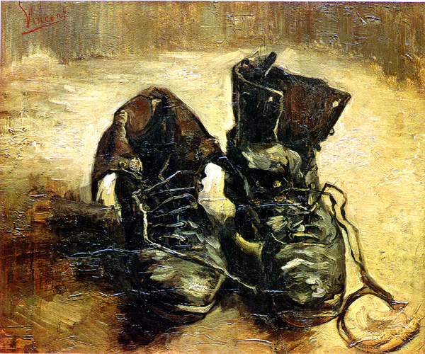 Vincent van Gogh, A Pair of Shoes, 1886. Image Source