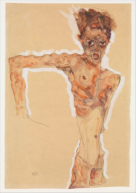 Egon Schiele,  Self Portrait , 1911.  Image Source