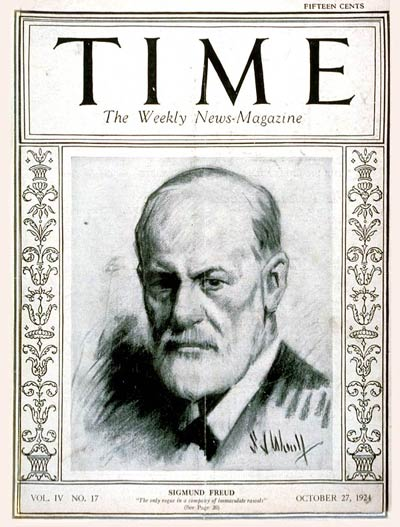 Freud on the cover of Time Magazine.  Image Source