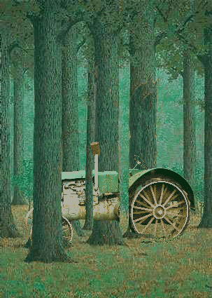 Rene Magritte, The Green Tractor . Image Source