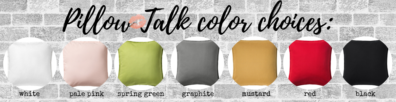 Here are the color options available for pillow covers; we may have additional colors available in studio that are not yet pictured. You may choose to reserve a specific color or select from what is available at the time of your workshop. If you have any questions please do not hesitate to contact us.