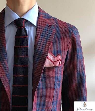Jacket by Claudio Italiano, shirt by Camiceria Flavia, bespoke knit tie by Sleevehead.