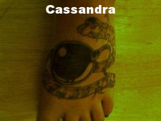 Cassandra. Banner says %22Count on nobody and no one will let you down%22.jpg