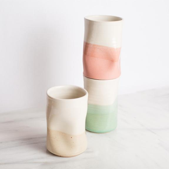 Handmade Wheel-thrown vase that provides clean water -