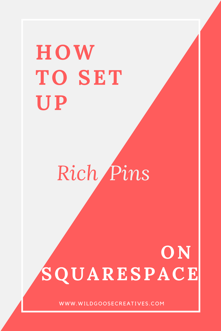 Setting up rich pins