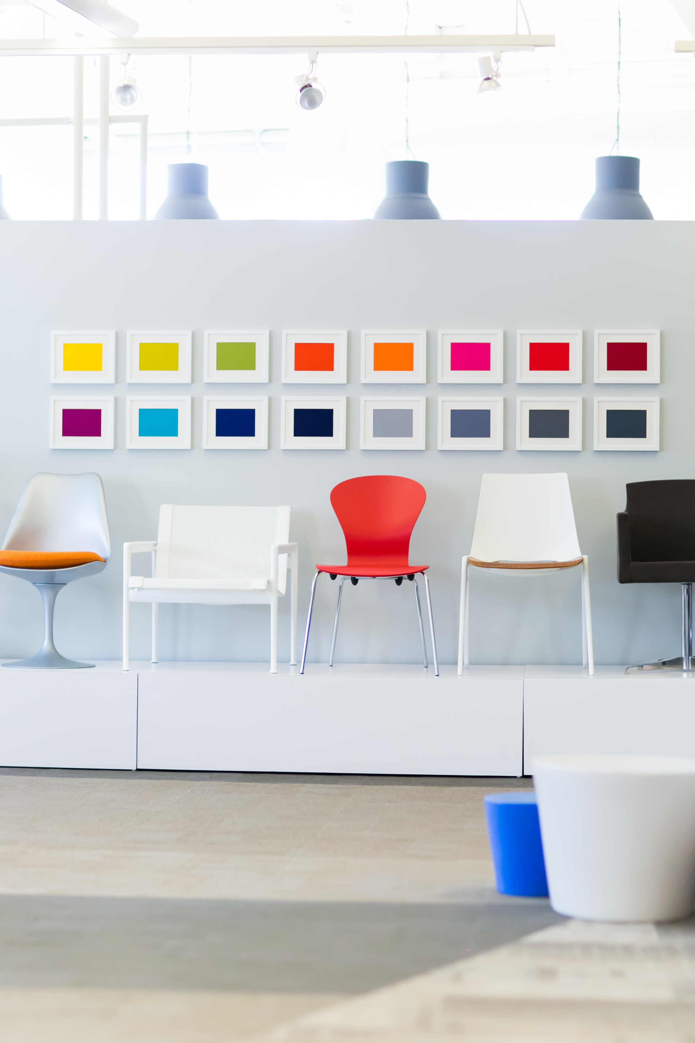 Classic Knoll chairs at RJE Business Interiors
