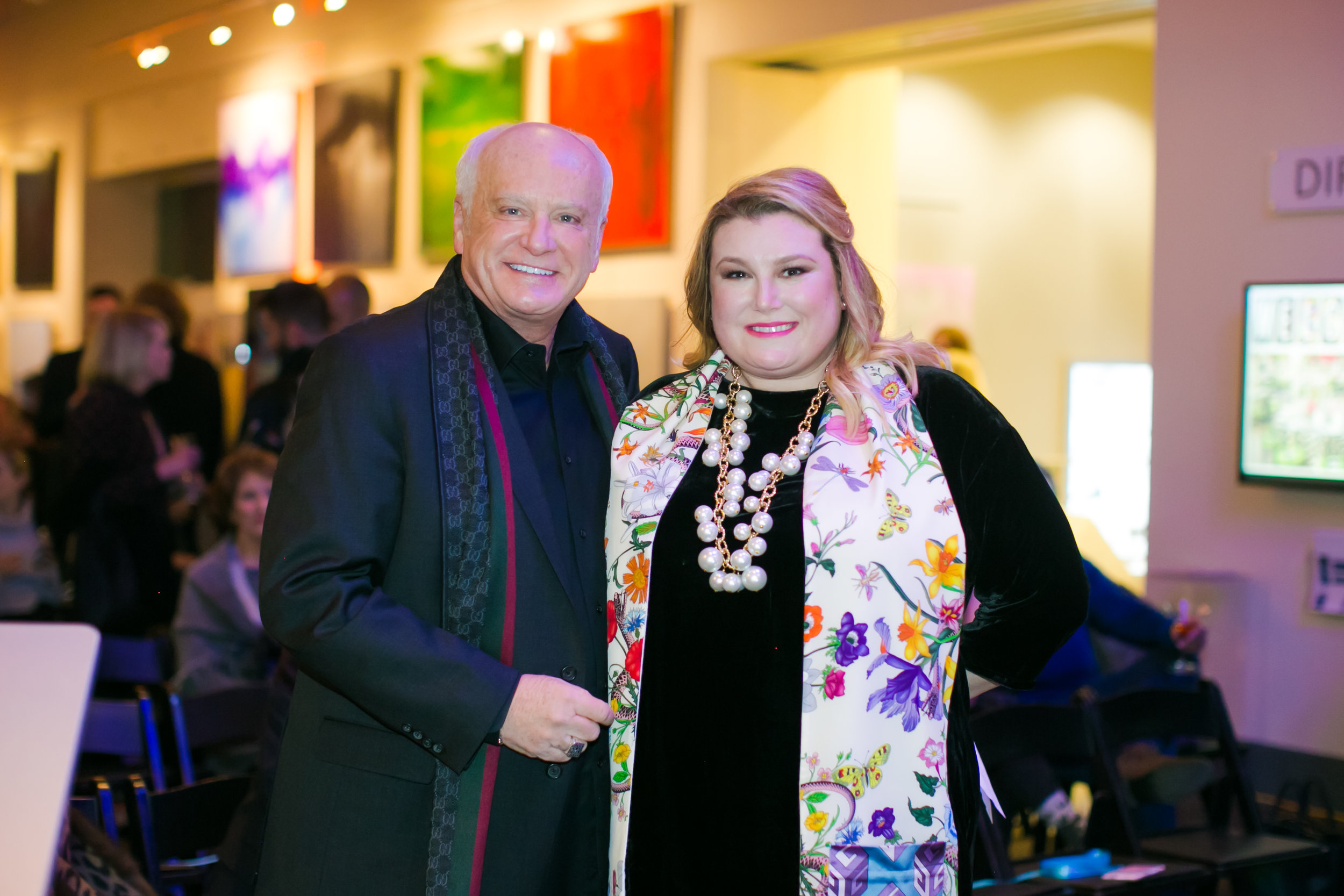 Barry and Amanda Lantz at LUXE 2018, Indiana Design Center