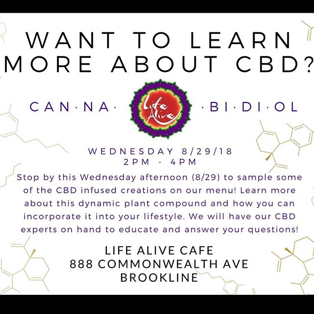 Educating today at @lifealivecafe in Brookline from 2pm to 4pm. Free saaamples 😜 come say hi!!!! #wellness #education #plantsoverpills